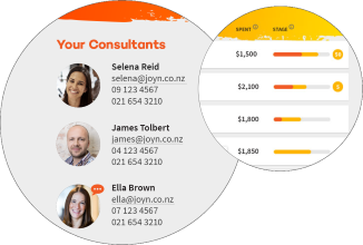 JOYN Dashboard showing on-demand HR Consultants